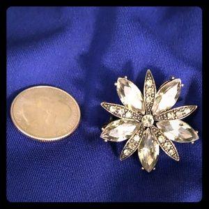 Jewelry - Brooch celery/gold.